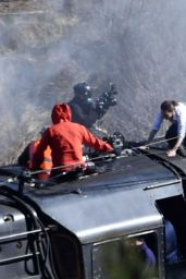 """Hayley Atwell - """"Mission Impossible 7"""" Filming Set in Yorkshire 04/22/2021"""
