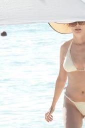 Heather Graham in a White Bikini in Tulum 04/10/2021