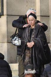 """Helen Mirren - Filming scenes for """"White Bird: A Wonder Story"""" in Prague 04/14/2021"""