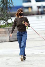 Helena Christensen - Walking Her Dog in New York 04/18/2021