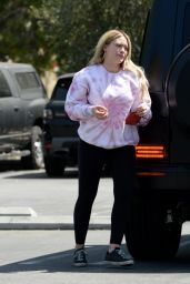 Hilary Duff at the Park in Los Angeles 04/10/2021