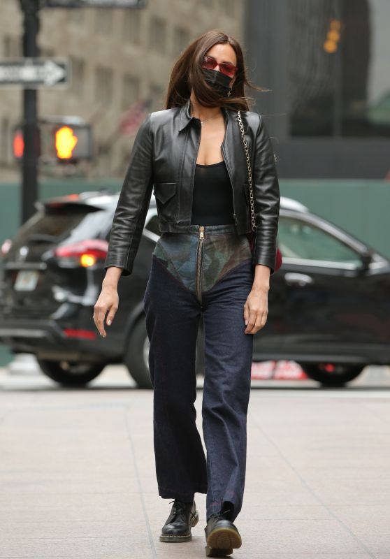 Irina Shayk in Chaps Jeans - New York 04/27/2021