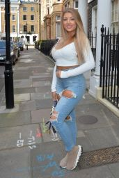 Jess Gale - Heading to a Roof Top Party in London 04/18/2021
