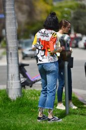 Jesse J in a Colorful Outfit 04/15/2021