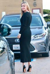 Joanna Krupa in All Black at Nobu in Malibu 04/12/2021