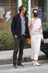Jordana Brewster and Mason Morfit at Caffe Luxxe in Brentwood 04/06/2021
