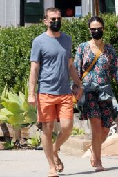 Jordana Brewster and Mason Morfit - Out in Brentwood 04/05/2021