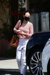 Jordana Brewster in Casual Outfit in Santa Monica 04/11/2021
