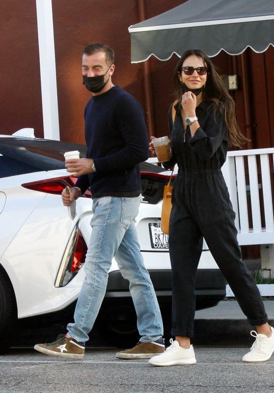 Jordana Brewster With Her Boyfriend in Brentwood 04/05/2021