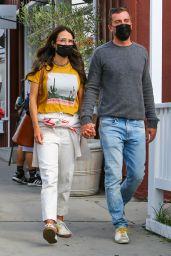 Jordana Brewster With Mason Morfit - Brentwood 04/27/2021