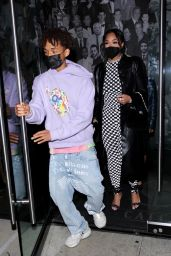 Jordyn Woods With Jaden Smith at Catch LA in West Hollywood 04/22/2021