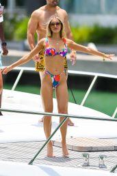 Joy Corrigan in Multi-Colored Bikini - Miami Beach 04/29/2021
