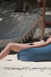 Julianne Hough in a Black Bikini in Tulum 04/26/2021