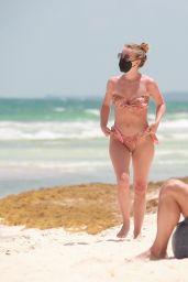 Julianne Hough in a Patterned Bikini - Tulum 04/28/2021