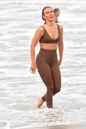 Julianne Hough in Sports Bra And Leggings at Venice Beach 04/24/2021