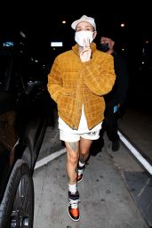 Kehlani in a Flannel Shirt and White Shorts - West Hollywood 04/26/2021