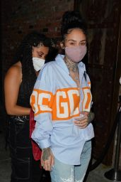 Kehlani in Casual Outfit at TAO Asian Restaurant in Beverly Hills 04/28/2021