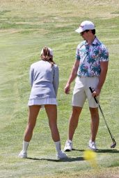 Keleigh Sperry - Plays a Round of Golf in Los Angeles 04/10/2021