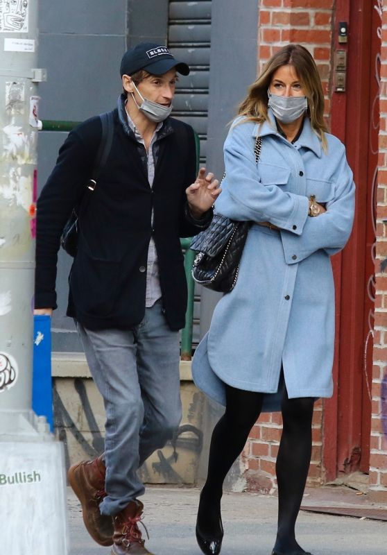Kelly Bensimon and Nick Stefanov in NYC 04/01/2021