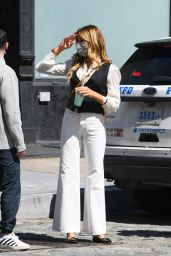 Kelly Bensimon in a Monochrome Outfit - New York 04/13/2021