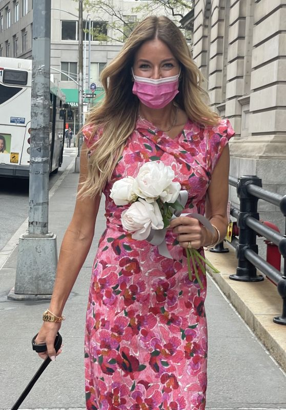 Kelly Bensimon in Floral Isabel Marant Dress 04/19/2021