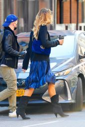 Kelly Bensimon - Windy Day in NY 04/05/2021