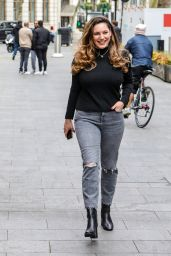 Kelly Brook Arriving for Her Heart FM Show in London 04/21/2021