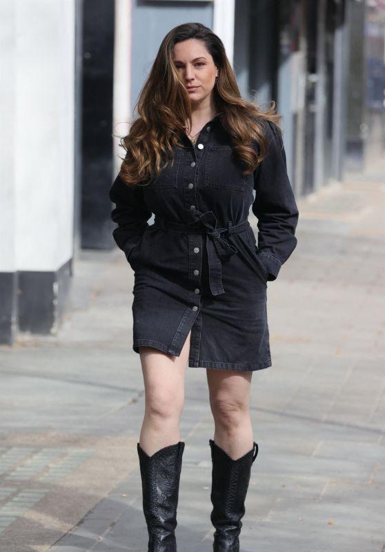 Kelly Brook in a Denim Mini Dress 04/07/2021