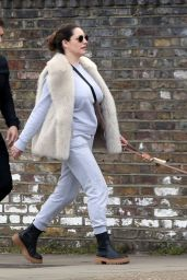 Kelly Brook With Boyfriend Jeremy Parisi in London 04/14/2021
