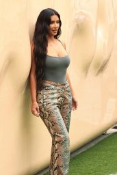 Kim Kardashian at her SKIMS Pop Up Shop at the Grove in Los Angeles 04/07/2021
