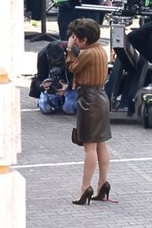 """Lady Gaga - """"House of Gucci"""" Filming Set in Rome 04/06/2021"""