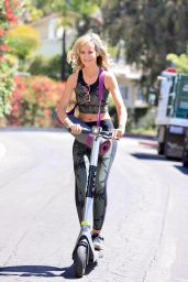 Lady Victoria Hervey - Rides a Bird Scooter in West Hollywood 04/29/2021