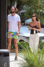Lais Ribeiro and Joakim Noah - Miami 04/19/2021