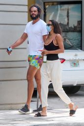 Lais Ribeiro and Joakim Noah - Miami 04/19/2021