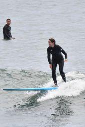 Leighton Meester - Surfing in Malibu 04/24/2021