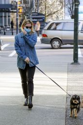 Lili Reinhart - Walking Her Dog in Vancouver 04/06/2021