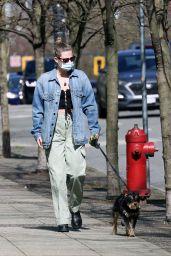Lili Reinhart - Walking Her Dog in Vancouver 04/16/2021