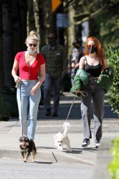 Lili Reinhart - Walking Her Dogs in Vancouver 04/17/2021