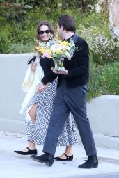 Lily James and Michael Shuman - Los Angeles 03/27/2021