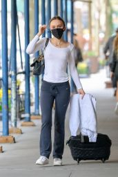 Lily-Rose Depp in Casual Outfit - Airport in New York 04/10/2021
