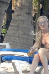 Lindsey Vonn in a Bikini at the Beach in Tulum 04/19/2021