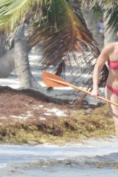Lindsey Vonn in a Red Bikini in Tulum 04/20/2021