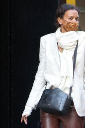 Liya Kebede at Sant Ambreous in Soho in NYC 04/05/2021