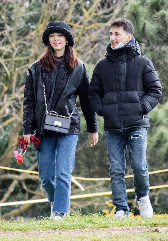 Matilda De Angelis With Her Boyfriend William Mezzanotte in Rome 04/05/2021