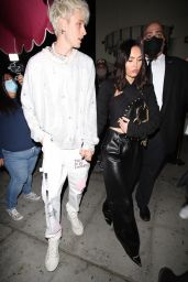 Megan Fox and Machine Gun Kelly - Out For Dinner in LA 04/20/2021