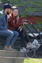 Melissa Benoist and Chris Wood - Out in Vancouver 04/21/2021