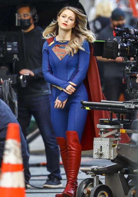 "Melissa Benoist - ""Supergirl"" Set in Vancouver 04/19/2021"