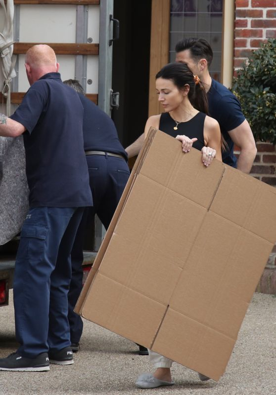 Michelle Keegan - Moving Home in Essex 04/21/2021