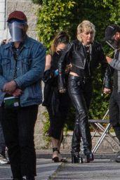 Miley Cyrus at a Studio in Burbank 04/14/2021