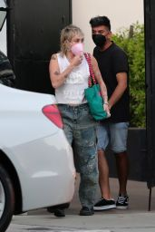 Miley Cyrus - Leaving a Hair Salon in West Hollywood 04/29/2021
